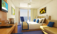 Aft-View Extended Balcony Stateroom